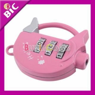 TSA Cute Loovely Pig Combination Lock Travel Security Password