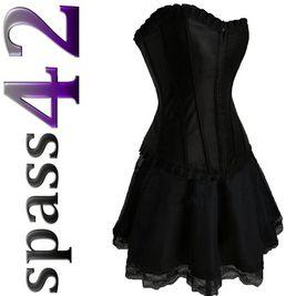 Mini Rock Corsage Korsett Petticoat Gothic schwarz Top 701