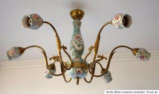 Kronleuchter Antik Porzellan ~ Biedermeier kerzenleuchter messing porzellan