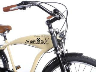 26 Beachcruiser Cruiser Chopper Lowrider Fahrrad City 7 Gang Shimano