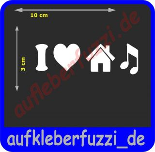 LOVE HOUSE MUSIC AUFKLEBER Sticker Tuning The Shocker Design
