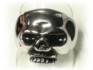Totenkopf Totenkopfring 62   19,7 mm Gothik Ring Skull Edelstahl Biker