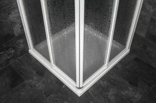 HÜPPE 501 ALPHA Duschkabine Eckeinstieg Duschabtrennung 80x80