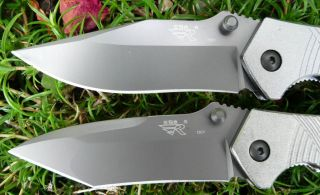 2x Sanrenmu 730 Taschenmesser drop point + tanto Klinge