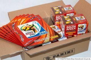 Panini WC WM 2010 South Africa – 12 x BOX DISPLAY + 6 x Leeralbum