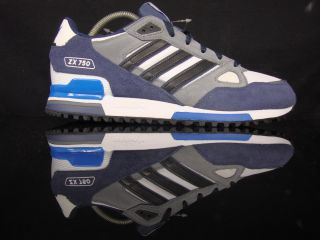 ADIDAS ORIGINALS ZX 750 TRAINER MENS BLUE WHITE MENS RETRO CASUAL