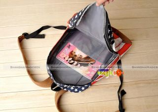 Unisex Trendy School Book Campus Bag Backpack UK US Flag Pattern