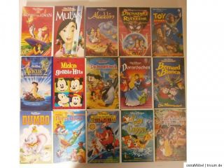 Walt Disney VHS Video Sammlung   16 Filme
