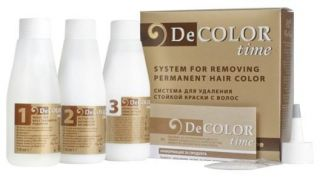 DECOLOR/Hair Color Remover/System for Removig Permanent Hair Colour