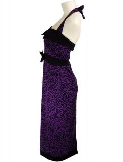 Purple Vtg Rockabilly 50s Pin Up Punk Emo Kleid Dress S