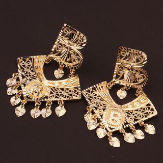 Goldschmuck Schmuck 750/18K Gold Vergoldet Damen Solide Ohrringe