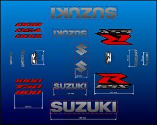 OEMq SUZUKI GSX R GSXR 600 750 1000 SRAD Verkleidung Aufkleber Sticker