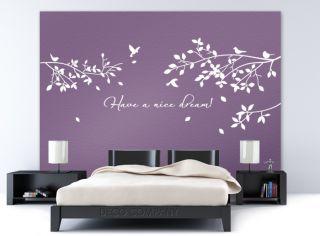 WANDTATTOO Have a nice Dream W775 Schlafzimmer Kinderzimmer Blumen