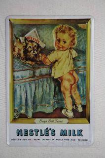 Blechschild alte Reklame Nestle Baby Milk Milch Metallschild 20x30 cm