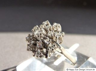 Art Deco 585 Weißgold Diamant Ring Gr. 52 Nr. 5140