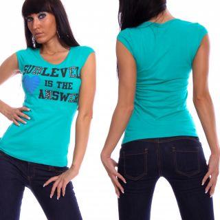 Sexy Sublevel Nieten T Shirt Druck Shirt Top 5 Farben