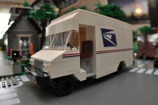 Custom LEGO City Cargo Mail Truck   7848 7733   Train