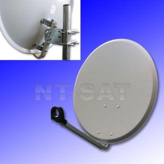 Sat Anlage FullHD Sat Receiver HD Digitale bis 4Teilnehmer LNB NEWline