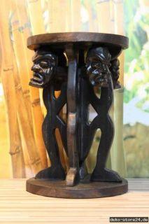 ... Teak Holz Hocker Beistelltisch Blumenhocker Tisch Afrika Style Asmat ...