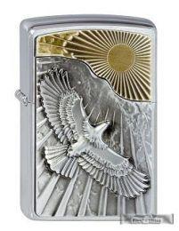 Original Zippo Eagle Sun Fly Emblem Neuheit 2013