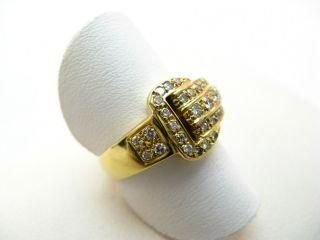R784 750er 18kt Gelbgold Ring mit Gürtelschnalle Gürtel Schnalle mit