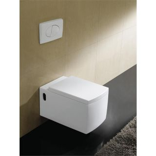 Toilette Wellness WC Eckig Design Soft Closing Deckel