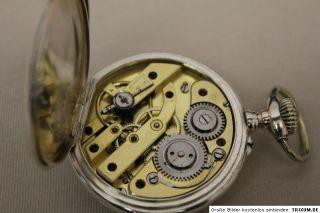 schöne antike DSC Herren Taschenuhr in 0.800 Silber Pocket watch