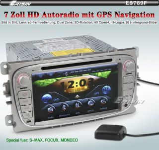 ES789GE 7 HD Touchscreen Autoradio GPS Navigation iPod FORD FOCUS