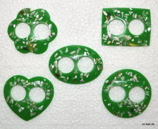 Grüne Sarongschnalle Perlmutt Muschel Splitter Sarong Pareo Schließe