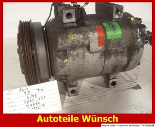 VW Passat 3B TDI 1,9 Klimakompressor 8D0260805D Audi air conditioning