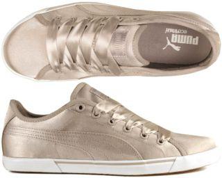Puma Schuhe Benecio Satin ashed of rose rosa silver grey grau 37,38,39
