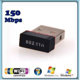 Mini Wireless Wlan USB Stick Dongle 150 Mbit/s