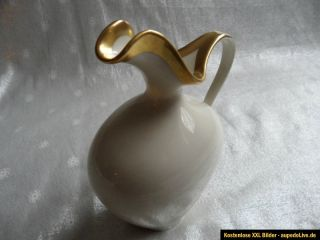 Alte Vase Royal KM Porzellan Bavaria Germany Handarbeit 22 Karat Gold
