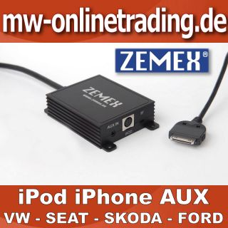 ZEMEX iPod iPhone Adapter SEAT Highline Liceo MFD