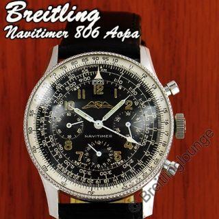 BREITLING Uhr Navitimer 806 72 Valjoux 72 Rarität 1954