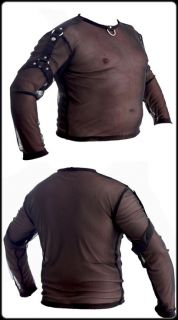 Shirt transparent T Shirt Hemd langarm schwarz chemise transparente