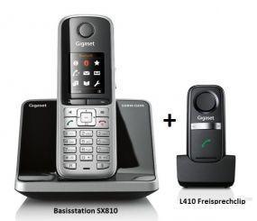 Gigaset SX810 Festnetz Telefon ISDN schnurlos + L410 Freisprechclip