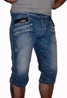 NEU DC Designer Herren Jeans Shorts Cargo Bermuda Hose destroyed W30