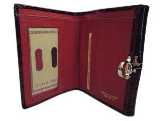 Echt Leder Damen Geldbörse Portemonnaie Brieftasche bordeaux rot lack