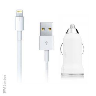 2in1 KFZ Auto USB Adapter Datenkabel Ladekabel Ladegerät Apple iPad
