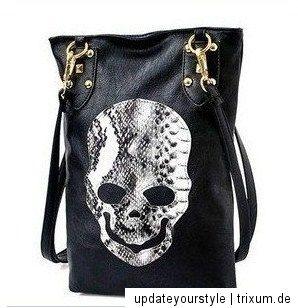 Designer Tasche SKULL schwarz designed by ZARA M. NEU