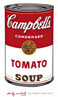 Kunstdruck Poster Andy Warhol Campbells Soup (Tomato)