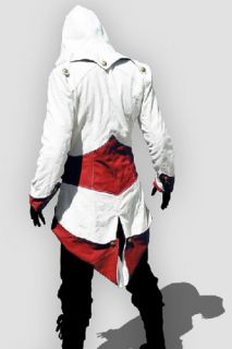 Assassins Creed III Conner Kenway Coat Red Jacket Hoodie Cosplay