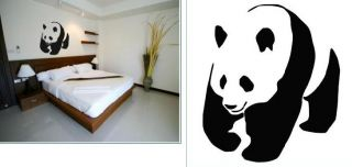 Wandtattoo Panda 138 x 120cm Wandsticker Wand Aufkleber Sticker Tattoo