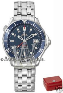 NEW IN BOX MENS OMEGA SEAMASTER 300M CO AXIAL AUTOMATIC GMT WATCH 2535