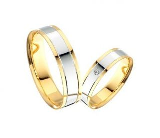 Trauringe Eheringe 585 Gold Brillant 0,015ct Weissgold GD503 TOPPREIS