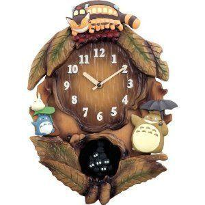 Rhythm analog pendulum clock Citizen Totoro Makkurokurosuke M837N