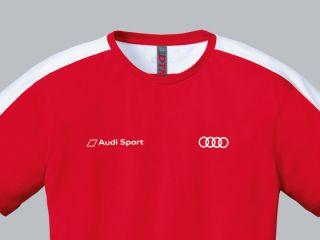 Original Audi T Shirt Shirt DTM Team Sport Herren rot Gr. L