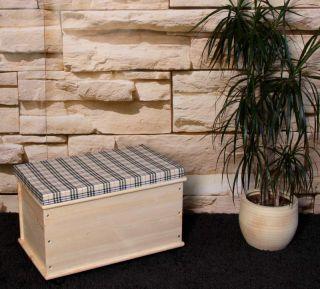 Wäschetruhe Wäschebox aus Holz, Länge65 cm, natur oder weiß