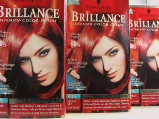 Schwarzkopf Haarfarbe Brillance Brokat Rot 845   3 er Pack